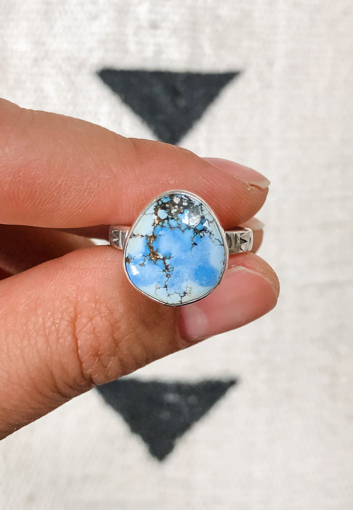 Golden Hills Lavender Turquoise Ring | Size 7.5