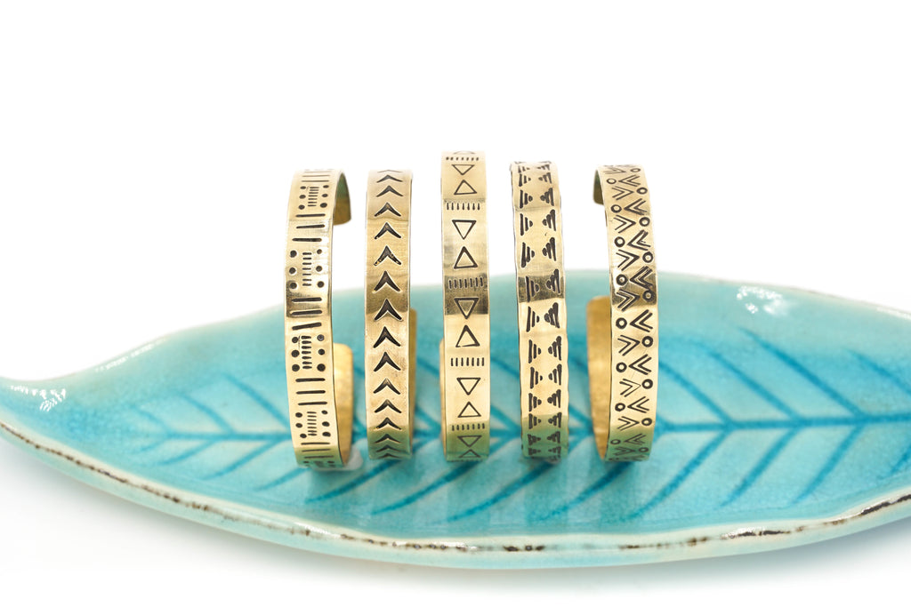 MUD CLOTH BRASS CUFFS