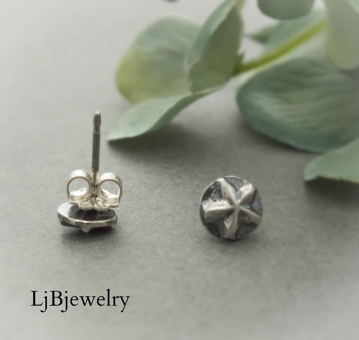 Silver Stars Stud Earrings
