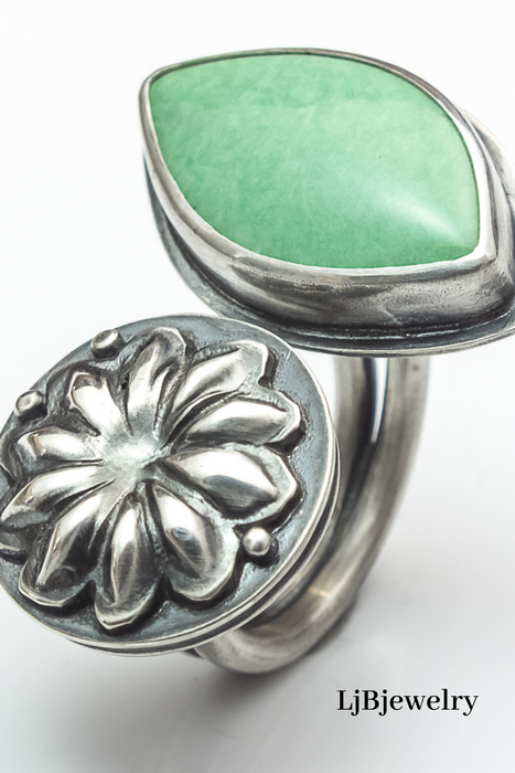Sterling Silver Variscite Statement Ring