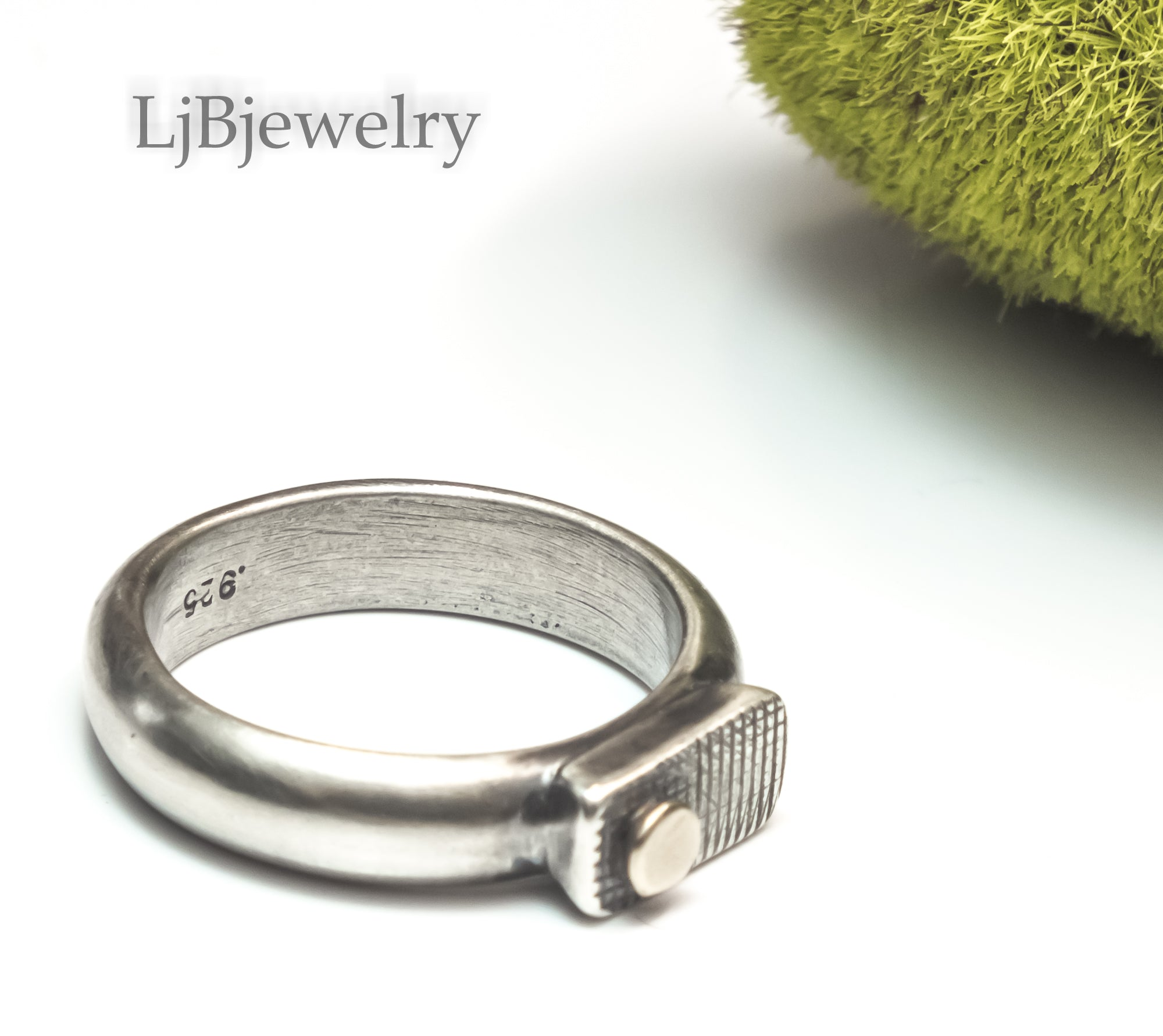 chunky sterling silver ring