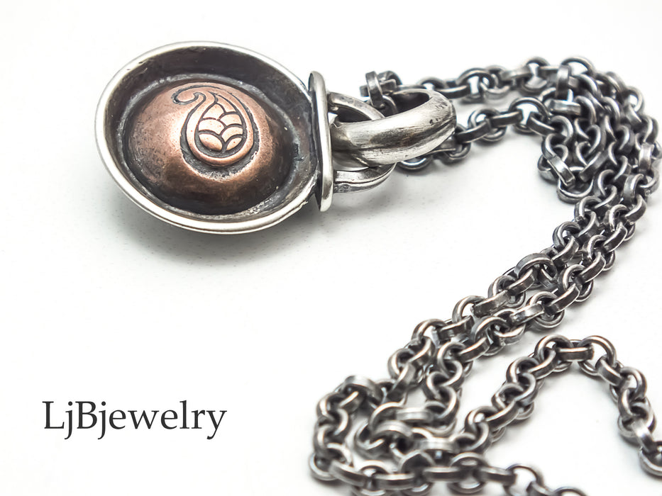 mixed metal pendant necklace