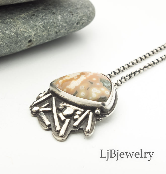 ocean jasper pendant necklace