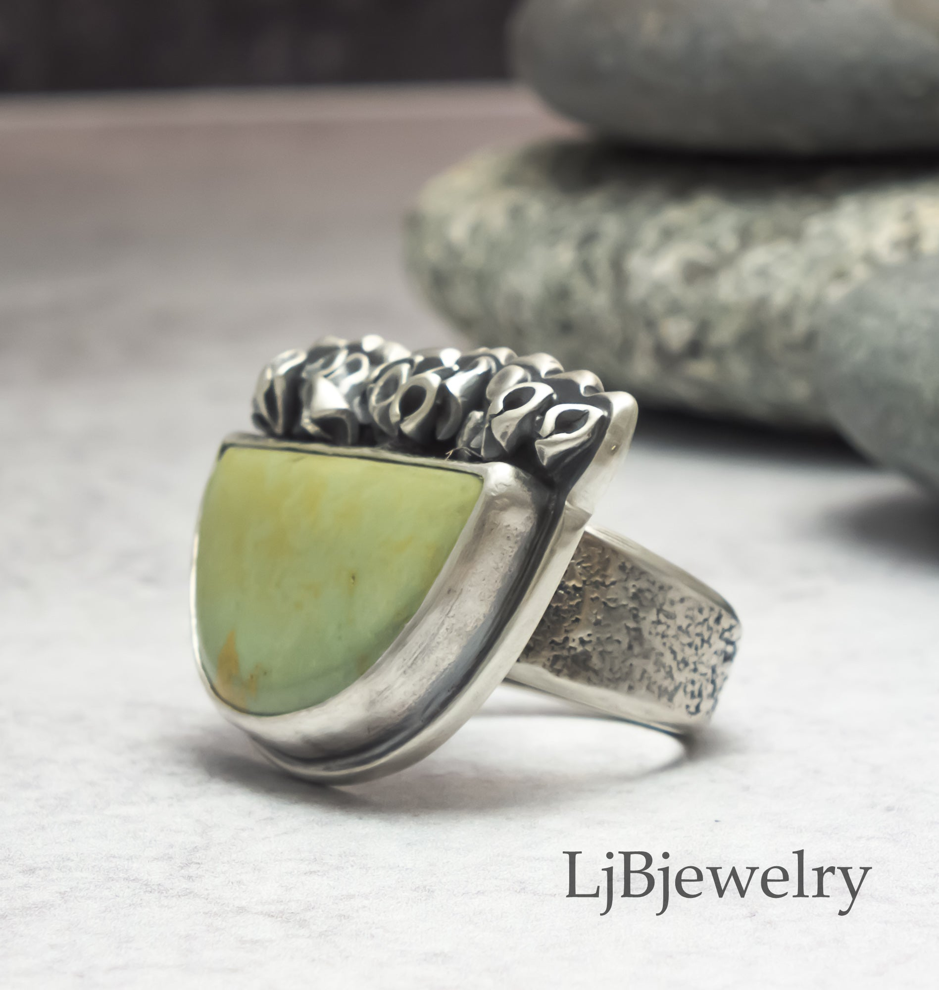 sterling silver cochise turquoise statement ring