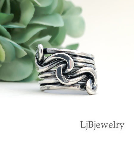 sterling silver triple knot ring