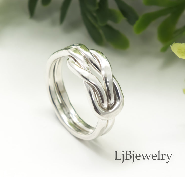 sterling silver infinity ring without patina