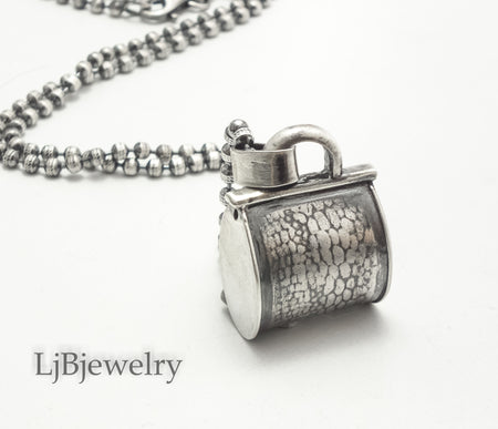 sterling silver purse pendant