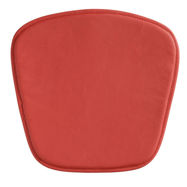 Wire/Mesh Chair Cushion Red - Leatherette