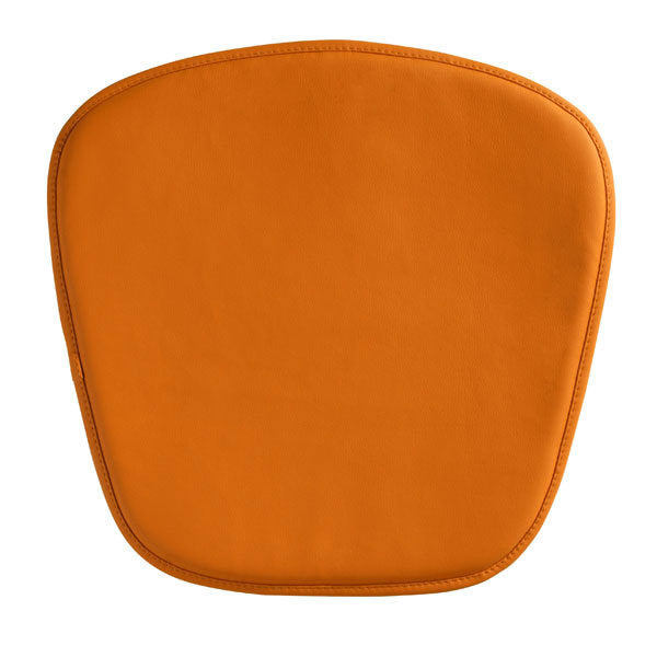 Wire/Mesh Chair Cushion Orange - Leatherette