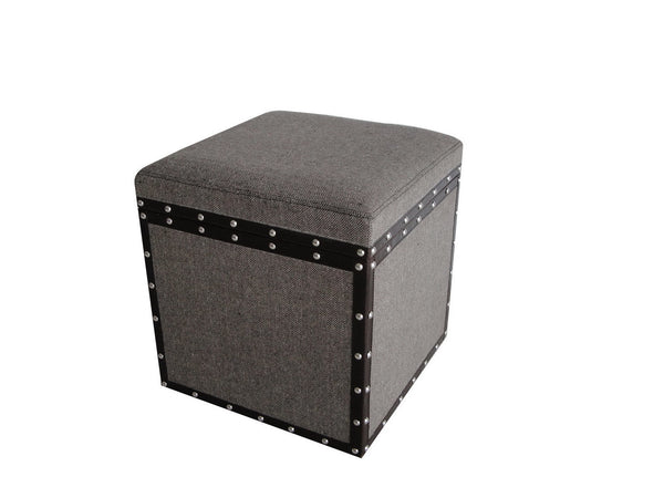 MANDALAY SQUARE TWEED STORAGE STOOL