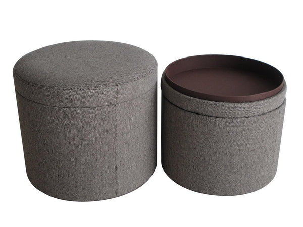 MANDALAY TWEED STORAGE OTTOMANS