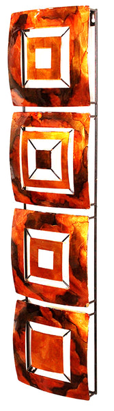 Vertical 4-Panel Metal Wall Decor - Metal, Lacquered