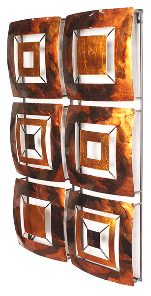 Vertical 6-Panel Metal Wall Decor - Metal, Lacquered