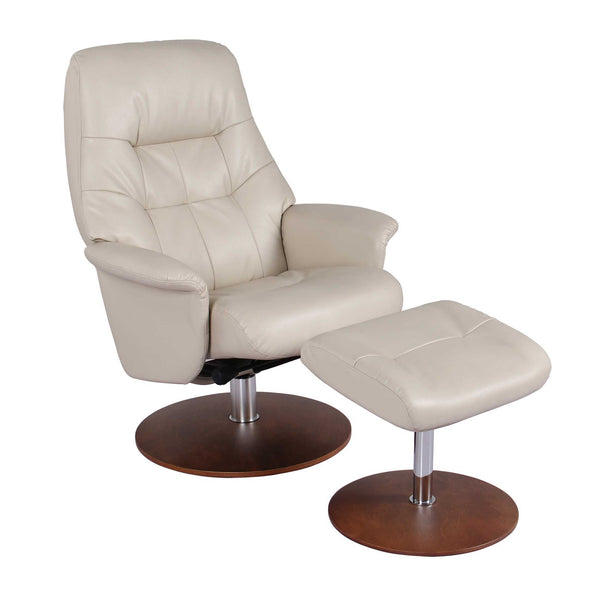 Recliner Chair & Ottoman - Taupe