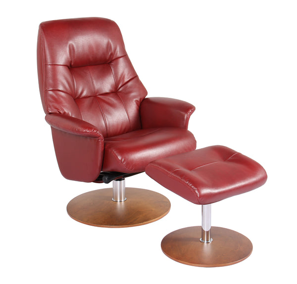 Recliner Chair & Ottoman - Ruby