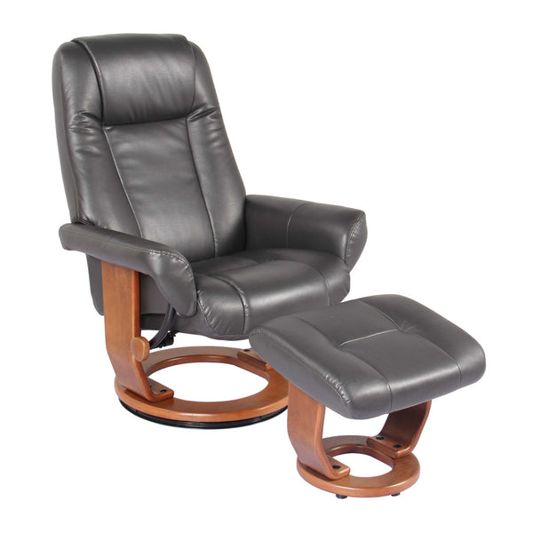 Recliner Chair & Ottoman - Charcoal