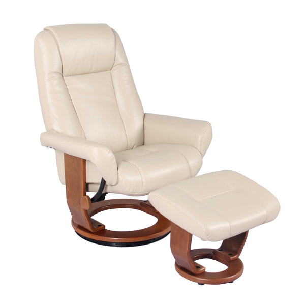 Recliner Chair & Ottoman - Stucco