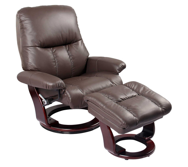 Recliner Chair & Ottoman - Kona Brown