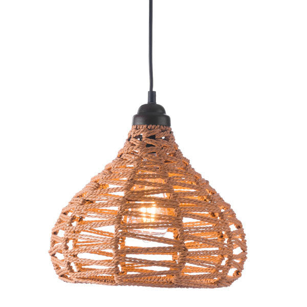 Nezz Ceiling Lamp Natural - Synthetic woven Painted Metal