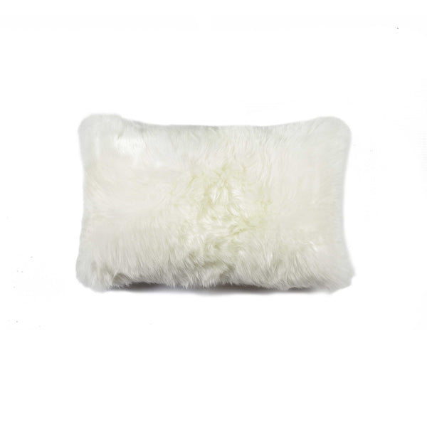 "New Zealand Sheepskin Pillow 12"" X 20"" - Natural"