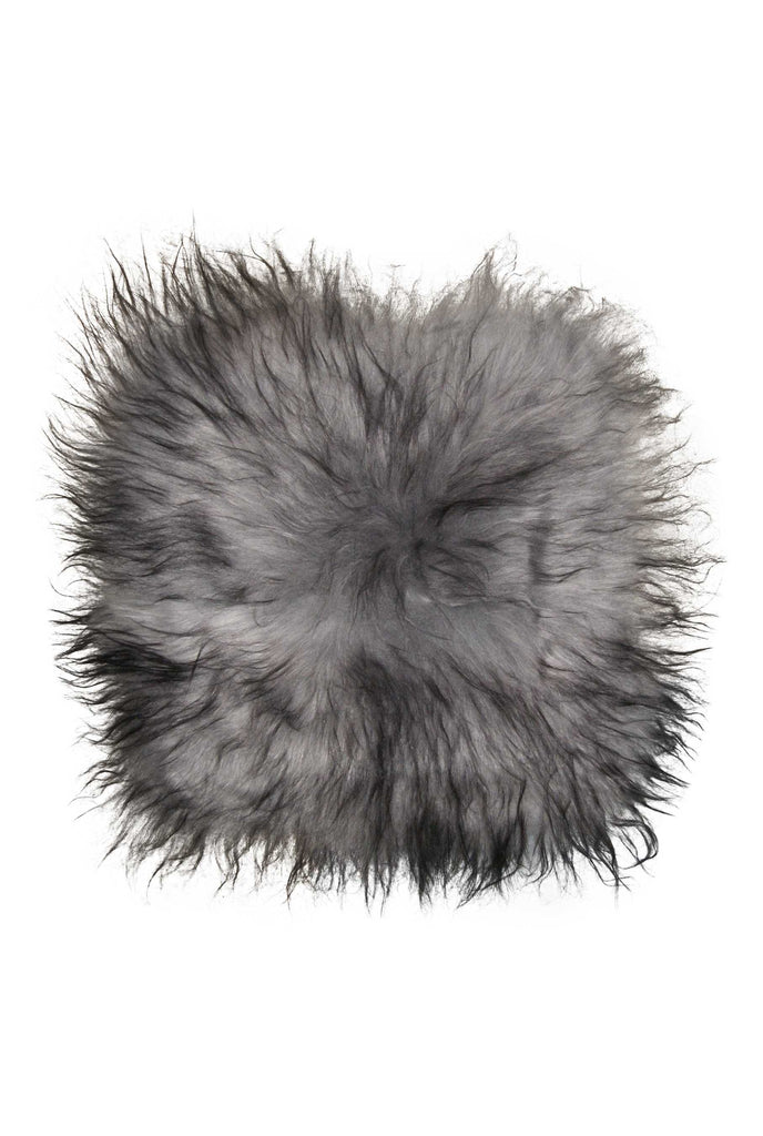 Sheepskin Chair Pad 15X15 Metallic Silver