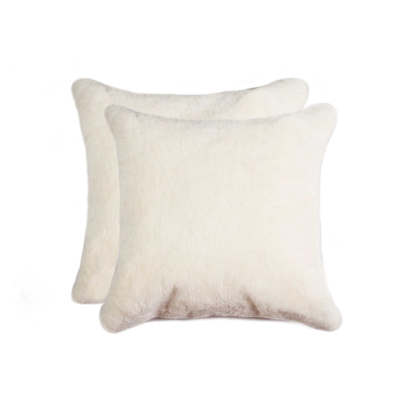 Sheepskin Pillow 18X18 Natural 2-Pack