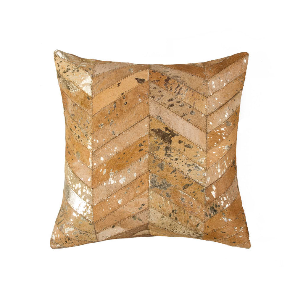 "Pillow 18"" X 18"" - Gold/Tan"