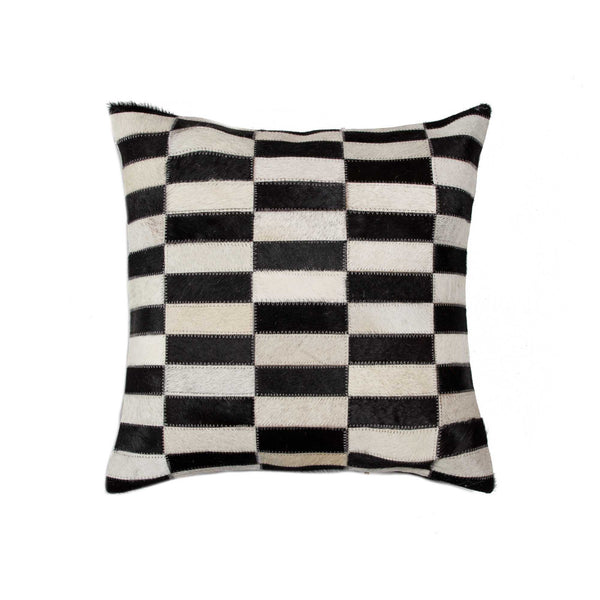 Cowhide Pillow 18X18 - Black/White