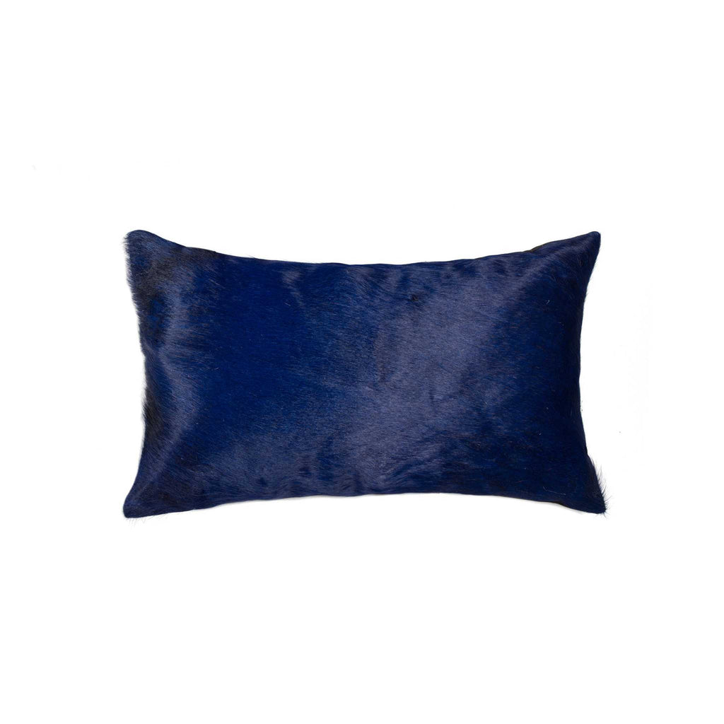 Cowhide Pillow 12X20 - Navy