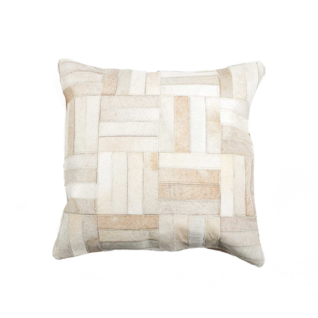 "Cowhide Pillow 18"" X 18"" - Natural"