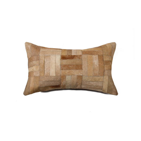 "Cowhide Pillow 12"" X 20"" - Natural"