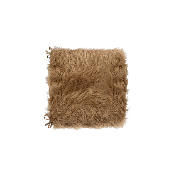 "Sheepskin Fur Chair Pad 16"" X 16 2-Pack - Tan"