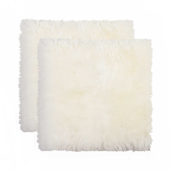Sheepskin Dining Chair Cushion - Natural 2 Pack