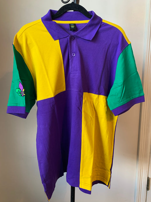 Mardi Gras Square Polo