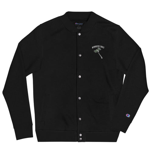 Embroidered Winners Only x Champion Bomber Jacket
