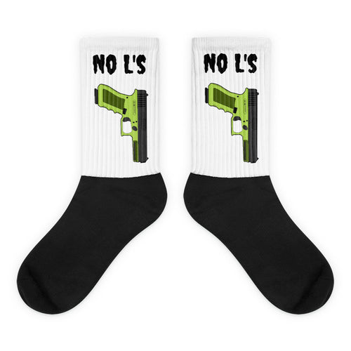 Black Foot No L's Sublimated Socks