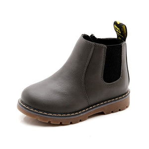 Unisex Leather Boots for Kids