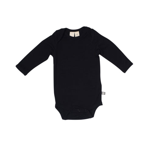 Baby Bamboo Long Sleeve Onesie in Midnight