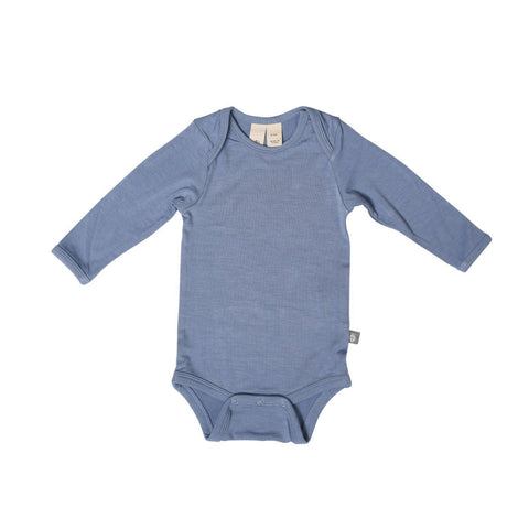 Baby Bamboo Long Sleeve Onesie in Slate