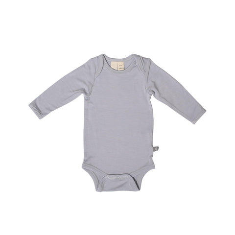 Baby Bamboo Long Sleeve Onesie in Storm