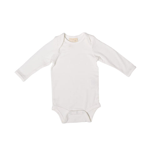 Baby Bamboo Long Sleeve Onesie in Cloud