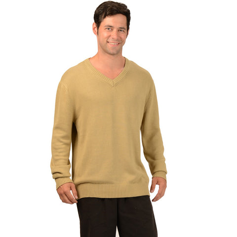 Eco Essentials Men's Bamboo V-neck Sweater from EvolutionMine