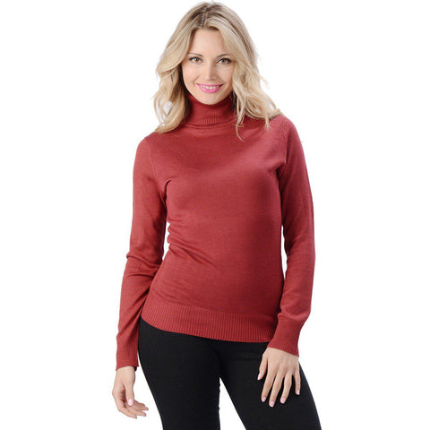 Eco Essentials Women's Bamboo Turtleneck Sweater from EvolutionMine