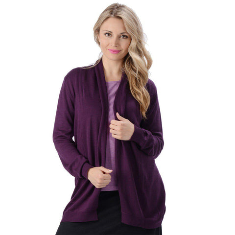 Eco Essentials Women's Bamboo Draped Cardigan from EvolutionMine