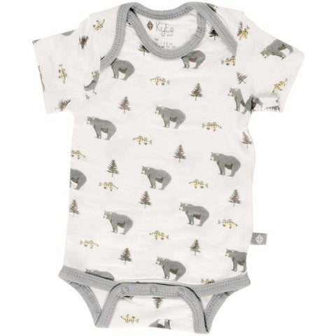 Baby Bamboo Printed Onesie in Creek