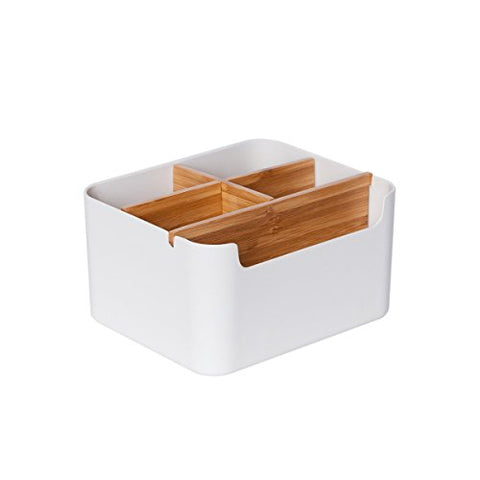 Multipurpose Bamboo Desk organizer Office Storage Box - ShopEvoMine Hemp and Bamboo