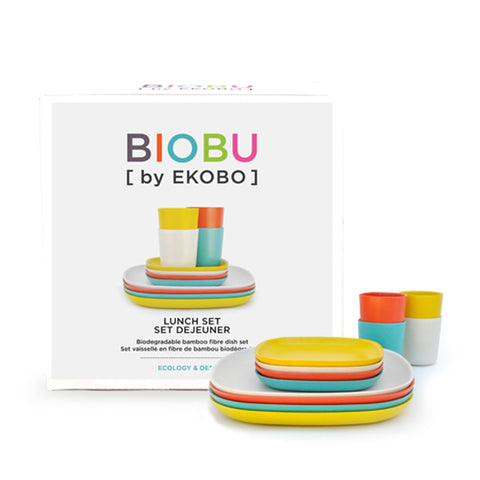 Gusto Bamboo Fiber Lunch Set by Ekobo