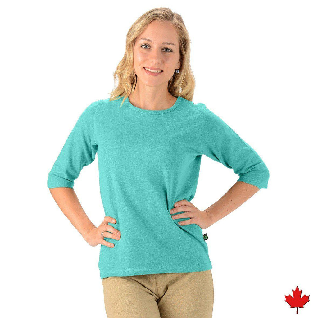 Women's Hemp/OC 3/4 Sleeve Top