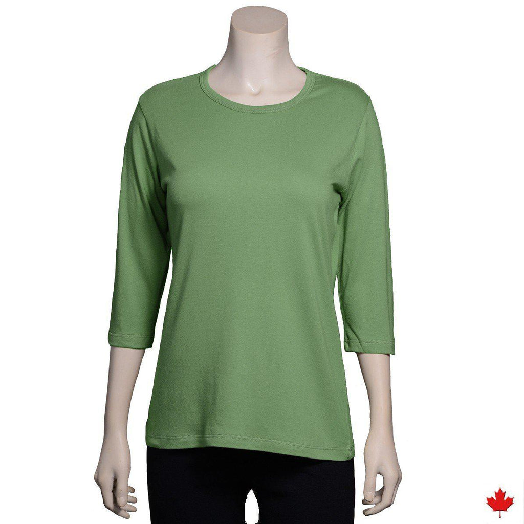Women's Bamboo V-Neck LS Top