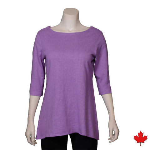 Women's Hemp 3/4 Sleeve Fluid Top